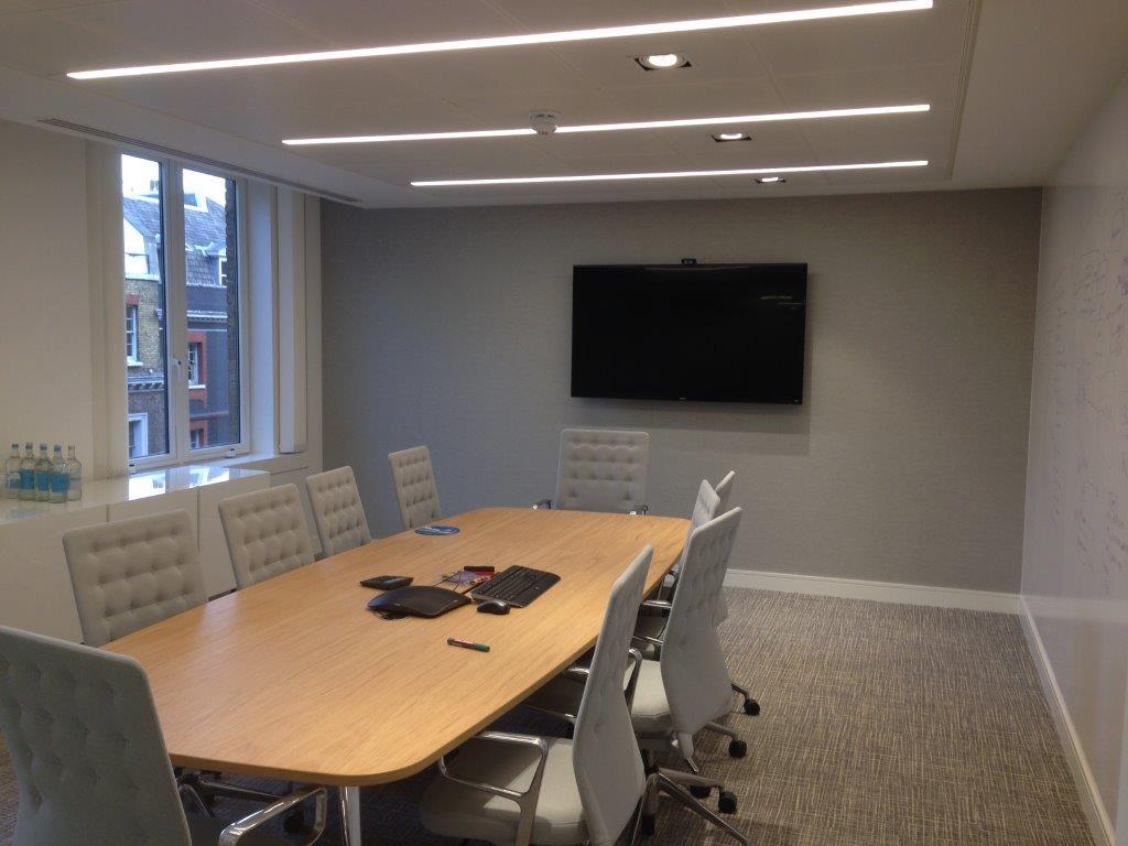 Meeting Room lighting vent AV HVAC